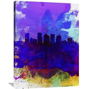 Naxart 'Phoenix Watercolor Skyline 1' Graphic Art on Wrapped Canvas; 40'' H x 30'' W x 1.5'' D