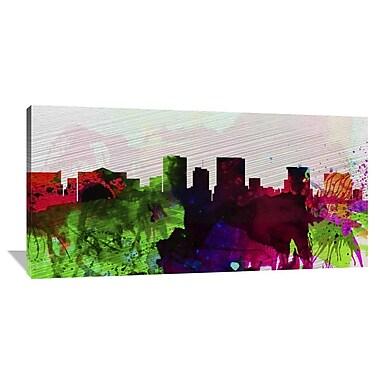 Naxart 'El Paseo City Skyline' Painting Print on Wrapped Canvas; 30'' H x 60'' W x 1.5'' D