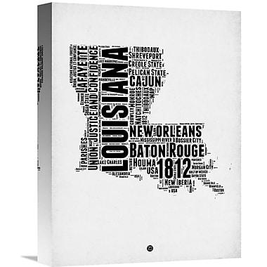 Naxart 'Louisiana Word Cloud 2' Textual Art on Wrapped Canvas; 16'' H x 12'' W x 1.5'' D