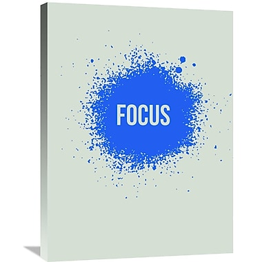 Naxart 'Focus Splatter Poster 1' Textual Art on Wrapped Canvas; 32'' H x 24'' W x 1.5'' D