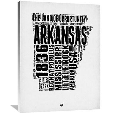 Naxart 'Arkansas Word Cloud 2' Textual Art on Wrapped Canvas; 40'' H x 30'' W x 1.5'' D