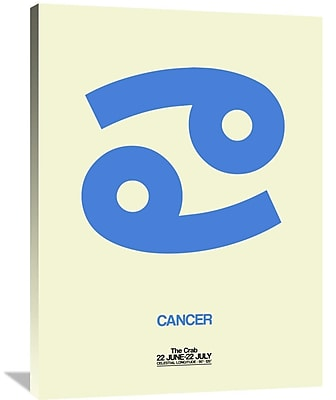 Naxart 'Cancer Zodiac Sign' Graphic Art on Wrapped Canvas in Blue; 40'' H x 30'' W x 1.5'' D