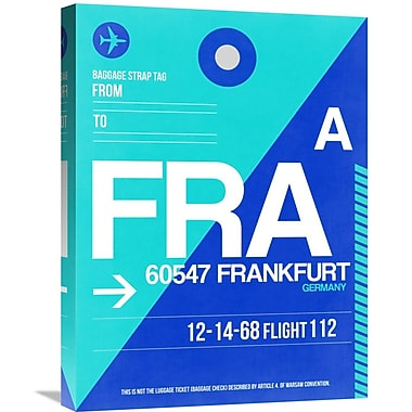 Naxart 'FRA Frankfurt Luggage Tag 1' Graphic Art on Wrapped Canvas; 24'' H x 18'' W x 1.5'' D