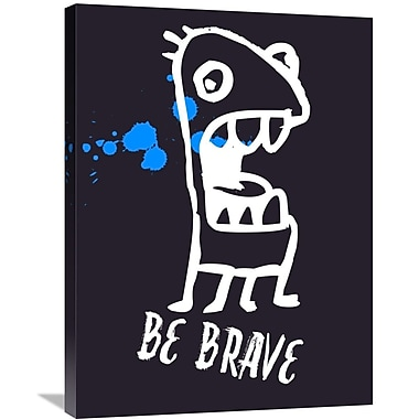 Naxart 'Be Brave Poster 2' Graphic Art on Wrapped Canvas; 32'' H x 24'' W x 1.5'' D