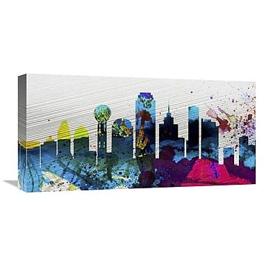 Naxart 'Dallas City Skyline' Graphic Art on Wrapped Canvas; 12'' H x 24'' W x 1.5'' D