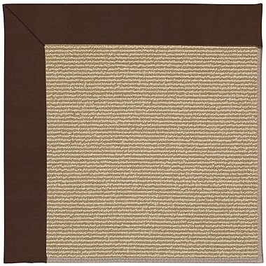 Capel Zoe Machine Tufted Brown and Beige Indoor/Outdoor Area Rug; Square 10'