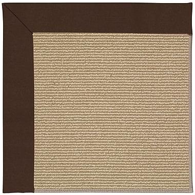 Capel Zoe Machine Tufted Brown and Beige Indoor/Outdoor Area Rug; Square 8'