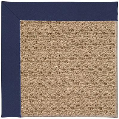 Capel Zoe Machine Tufted Navy and Beige Indoor/Outdoor Area Rug; Square 4'