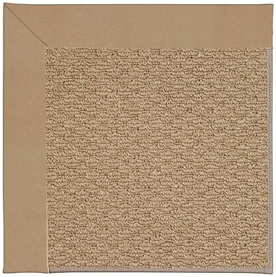 Capel Zoe Machine Tufted Biscuit and Beige Indoor/Outdoor Area Rug; Square 4'