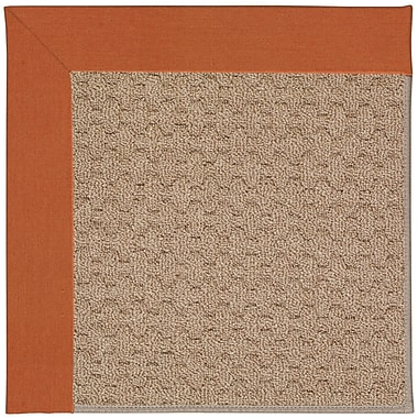Capel Zoe Machine Tufted Orange/Brown Indoor/Outdoor Area Rug; Square 4'