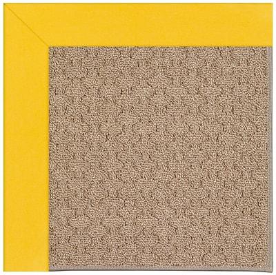 Capel Zoe Grassy Mountain Machine Tufted Summertime Yellow/Brown Indoor/Outdoor Area Rug