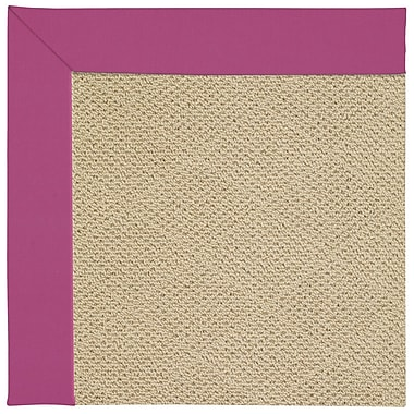 Capel Zoe Machine Tufted Fuchsia/Beige Indoor/Outdoor Area Rug; Square 8'