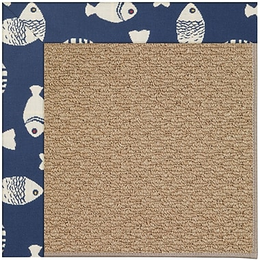 Capel Zoe Machine Tufted Pitch and Beige Indoor/Outdoor Area Rug; Rectangle 7' x 9'