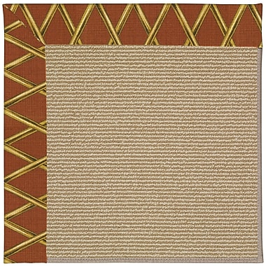 Capel Zoe Machine Tufted Cinnabar Honey and Beige Indoor/Outdoor Area Rug; Rectangle 9' x 12'