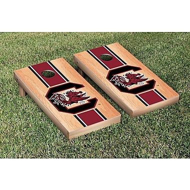 Victory Tailgate Stripe Hardcourt Version Cornhole Game Set; South Carolina Gamecocks