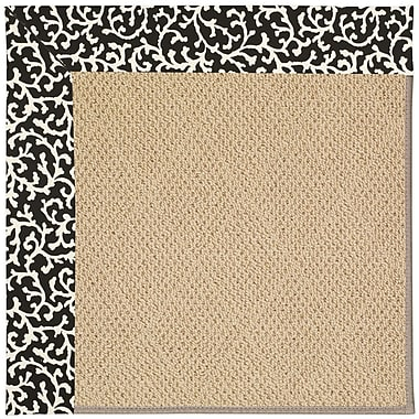 Capel Zoe Machine Tufted Black Cascade and Beige Indoor/Outdoor Area Rug; Square 8'