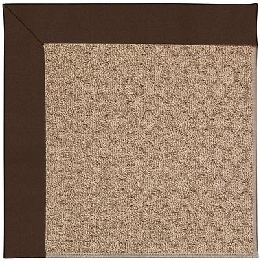 Capel Zoe Grassy Mountain Machine Tufted Dark Chocolate/Brown Indoor/Outdoor Area Rug; Square 4'