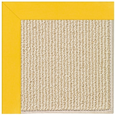 Capel Zoe Machine Tufted Summertime Yellow/Beige Indoor/Outdoor Area Rug; Square 6'