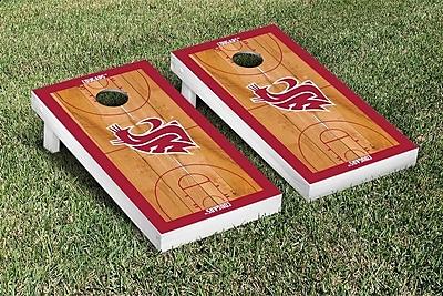 Victory Tailgate NCAA Border Basketball Version Cornhole Game Set; Washington State WSU Cougars WYF078278335931