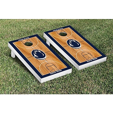 Victory Tailgate NCAA Border Basketball Version Cornhole Game Set; Penn State PSU Nittany Lions