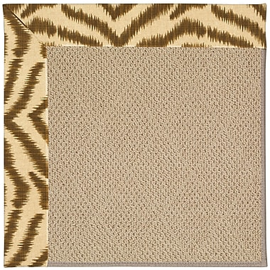 Capel Zoe Machine Tufted Tawny and Beige Indoor/Outdoor Area Rug; Square 8'