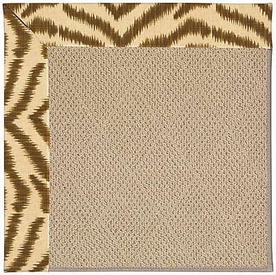 Capel Zoe Machine Tufted Tawny and Beige Indoor/Outdoor Area Rug; Rectangle 9' x 12'
