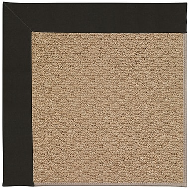 Capel Zoe Machine Tufted Ebony and Beige Indoor/Outdoor Area Rug; Round 12' x 12'
