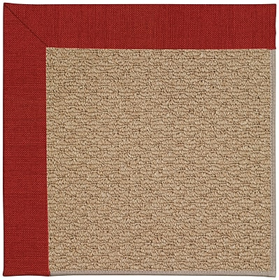 Capel Zoe Machine Tufted Tomatoes/Brown Indoor/Outdoor Area Rug; Square 8'