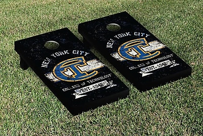 Victory Tailgate NCAA Vintage Version 1 Cornhole Game Set; New York City Technology Yellow Jackets