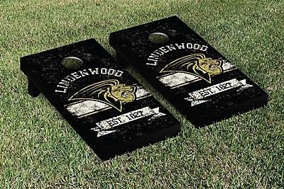Victory Tailgate NCAA Vintage Version Banner Cornhole Game Set; Lindenwood LU Lions