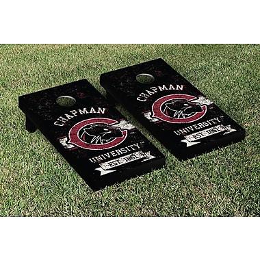 Victory Tailgate NCAA Vintage Version Banner Cornhole Game Set; Chapman University CU Panthers