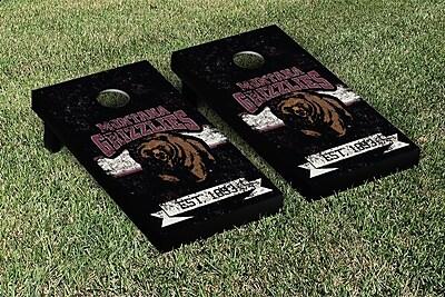 Victory Tailgate NCAA Vintage Version Banner Cornhole Game Set; University of Montana Grizzlies