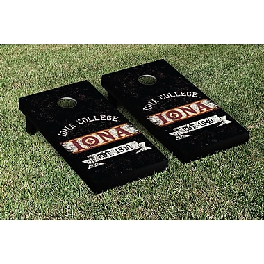 Victory Tailgate NCAA Vintage Version Banner Cornhole Game Set; Iona College Gaels