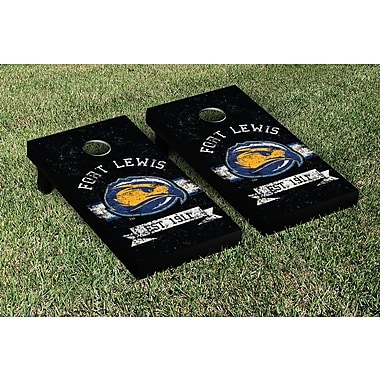 Victory Tailgate NCAA Vintage Version Banner Cornhole Game Set; Fort Lewis Skyhawks