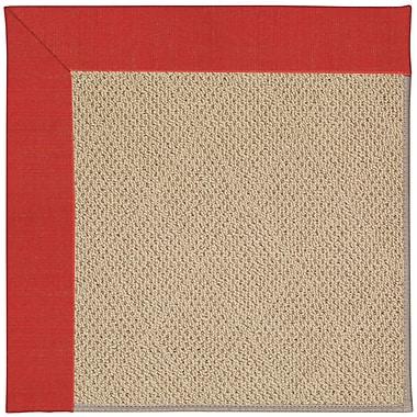 Capel Zoe Machine Tufted Red Crimson/Brown Indoor/Outdoor Area Rug; Square 6'