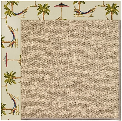 Capel Zoe Machine Tufted Beige Indoor/Outdoor Area Rug; Square 4'