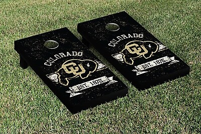 Victory Tailgate NCAA Vintage Version Banner Cornhole Game Set; Colorado Buffaloes