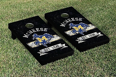 Victory Tailgate NCAA Vintage Version Banner Cornhole Game Set; McNeese State Cowboys
