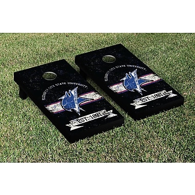 Victory Tailgate NCAA Vintage Version Banner Cornhole Game Set; Elizabeth City State Vikings