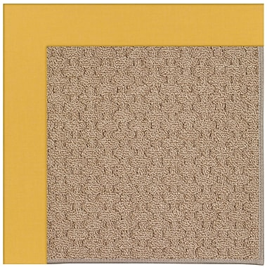 Capel Zoe Grassy Mountain Machine Tufted Jonquil/Brown Indoor/Outdoor Area Rug; Square 8'