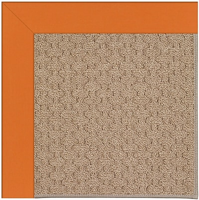 Capel Zoe Grassy Mountain Machine Tufted Clementine/Brown Indoor/Outdoor Area Rug; Rectangle 7' x 9'