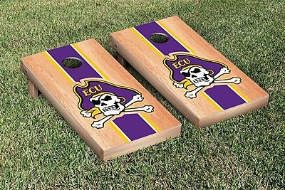 Victory Tailgate Stripe Hardcourt Version Cornhole Game Set; East Carolina University ECU Pirates