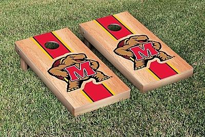Victory Tailgate Stripe Hardcourt Version Cornhole Game Set; Maryland Terrapins