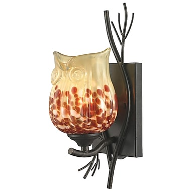Dale Tiffany Spotted Owl 1-Light Wall Sconce