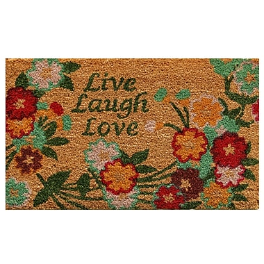 Home & More Live Laugh Love Doormat
