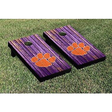 Victory Tailgate NCAA Weathered Version Corona Cornhole Game Set; Clemson Tigers