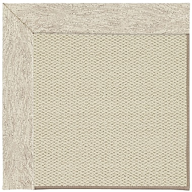 Capel Inspirit Linen Machine Tufted Natural Area Rug; Rectangle 4' x 6'