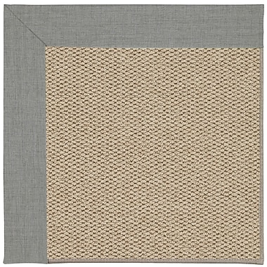 Capel Inspirit Champagne Machine Tufted Steel/Brown Area Rug; Square 6'