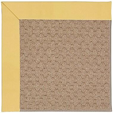 Capel Zoe Grassy Mountain Machine Tufted Lemon/Brown Indoor/Outdoor Area Rug; Rectangle 8' x 10'