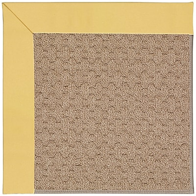 Capel Zoe Grassy Mountain Machine Tufted Lemon/Brown Indoor/Outdoor Area Rug; Rectangle 3' x 5'